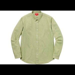 Brand new Supreme denim shirt lime